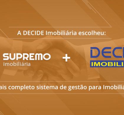 Decide Imobiliária e Interative Agência Digital firmam parceria através da Implantação do Sistema Supremo Imobiliária