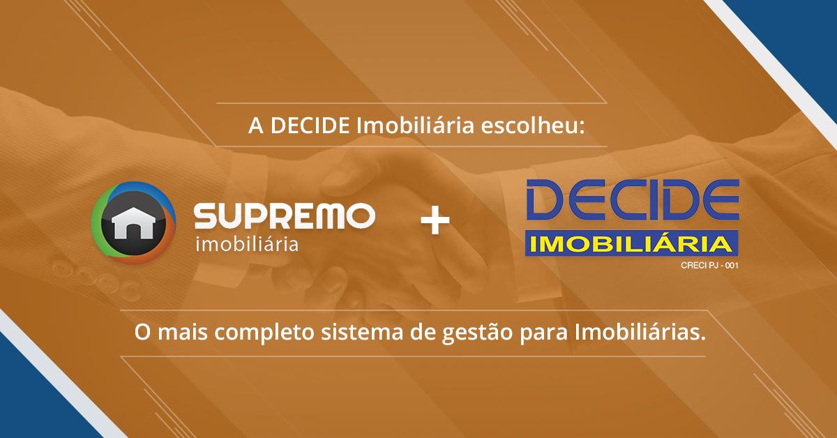 Decide Imobiliária e Interative Agência Digital firmam parceria.