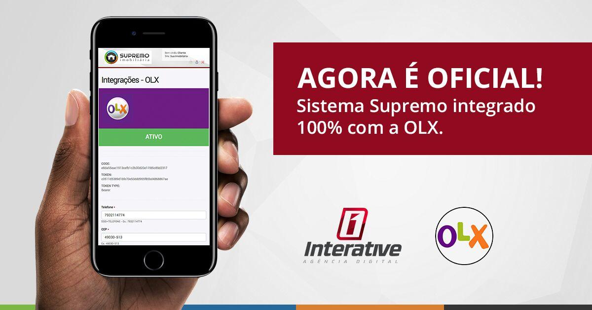 Sistema Supremo agora é oficialmente Integrado com OLX