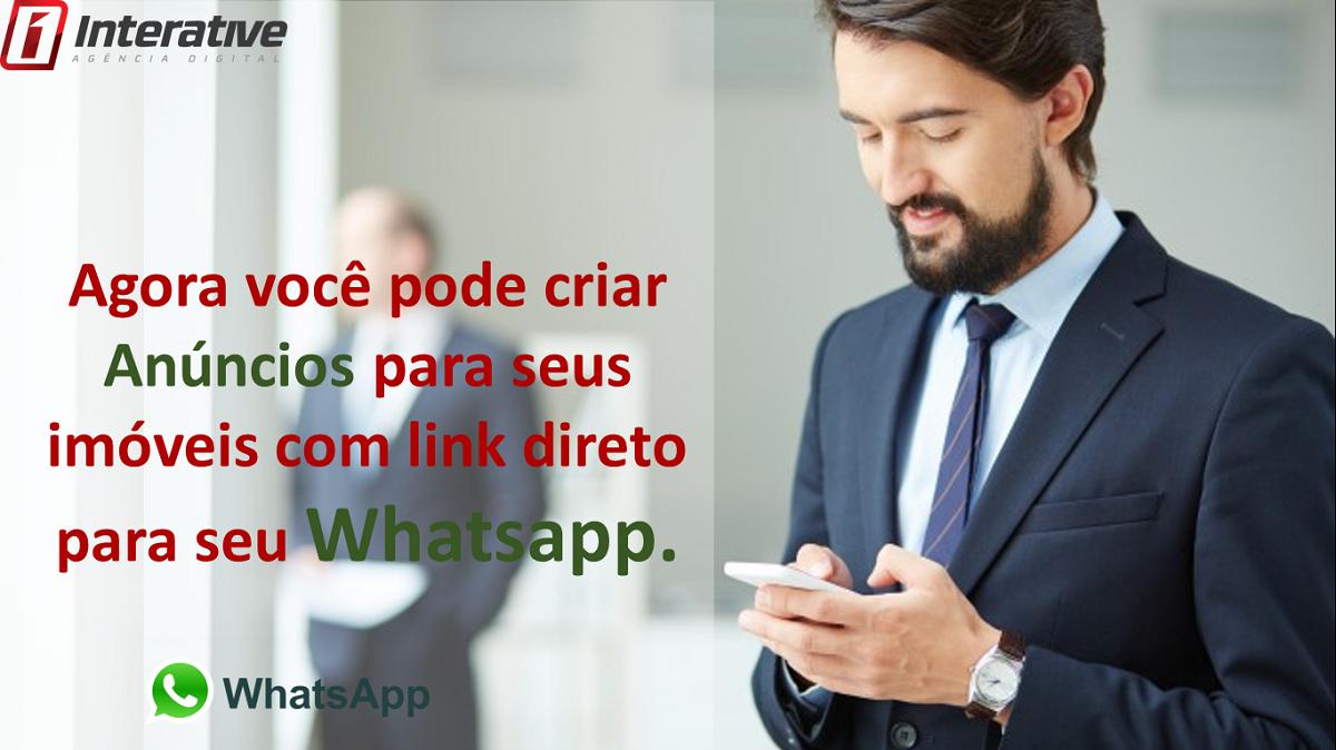 Crie anúncios para seus imóveis com link direto para seu whatsapp.
